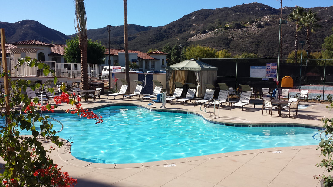 Adults-only pool at the Melody Hill Rec Center at the Lawrence Welk Resort in San Diego countyPicture